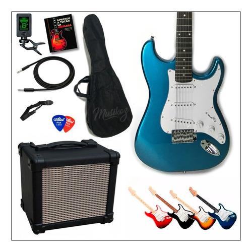 Guitarra Eléctrica Combo Amplificador 30w Afinador Y Mas!