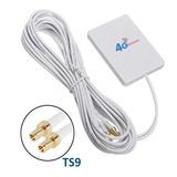 Antena Dual 28dbi Direccional 4g Huawei Zte Conector Ts9