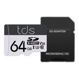 Memorias Microsd Tds 64 Gb U3 4k Para Samsung / Motorola