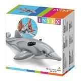 Delfin  Gris Flotador Inflable Para Alberca 175x66cm