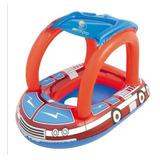 Flotador Para Bebés Tipo Carro De Bomberos Con Toldo