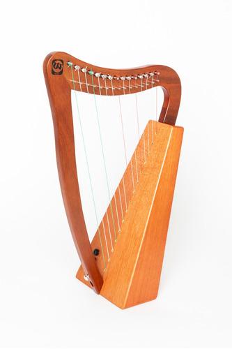 Arpa Electroacústica Walter 15 Cuerdas Madera Caoba Cuota