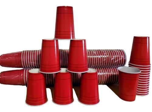 Vaso Rojo Americano 500mlx50u Descartable - Beer Pong Fiesta
