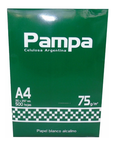 Resma A4 Pampa 75gr Papel Blanco Envio Gratis X 20