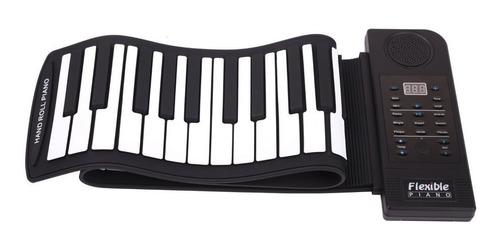 Teclado Musical Piano Organo Electrico Midi Flexible Enrollable De 61 Teclas