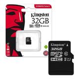 Memoria Tarjeta Micro Sd Hc Kingston 32gb Clase 10 80mbps