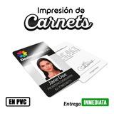 Impresion De Carnet Pvc Full Color - Con Semi-holograma