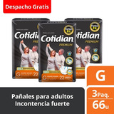 3 Paquetes Pañales De Adulto Cotidian Premium 66 Un Talla G