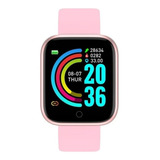 Smartwatch Smart Bracelet D20 D20 D20 1 1.3  Caixa De  Plástico  Rosa Pulseira  Rosa De  Silicone D20