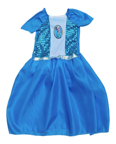 Disfraz Elsa Ana Frozen Vestido Princesas Bella Sirenita