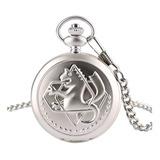 Full Metal Alchemist - Reloj  Con Cadena + Llavero