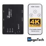 Switch Selector Splitter Hdmi 3 Entradas  +  Control Remoto