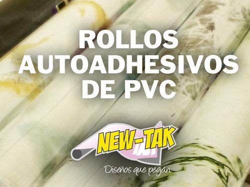 Rollos De Pvc Autoadhesivo New Tak, Marmolados   X 10 Mts