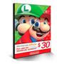Cartão Nintendo 3ds Wii U Switch Eshop Ecash $30 Dolares Usa Original