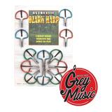 Ozark Jaw Harp Arpa De Boca Azul Y Roja - Grey Music -