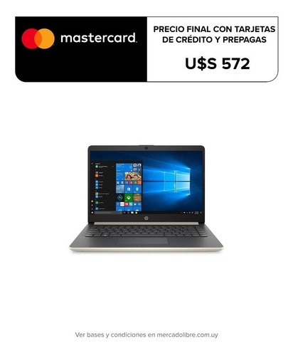 Notebook Hp 14` Hd Amd Ryzen 3 4gb /128gb Ssd Nueva W10