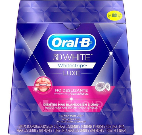 Tiras Blanqueadoras 3d White Luxe Whitestrips 28u Oral B