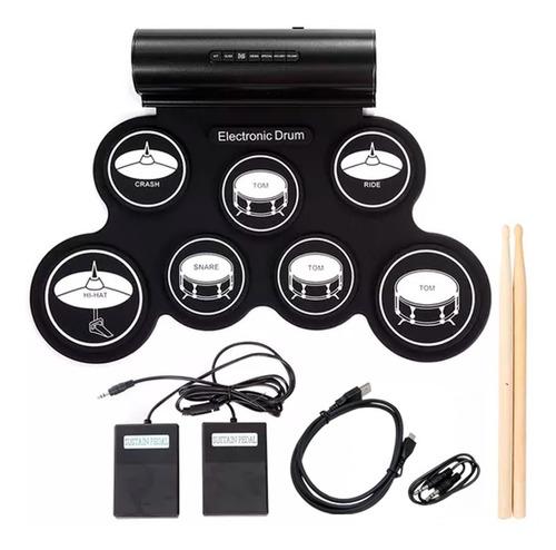 Bateria Electronica Musical Digital Flexible Plegable Pedal