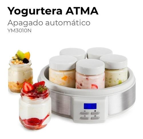 Yogurtera Atma Ym3010e Digital Lcd 7 Jarros 200ml Recetario