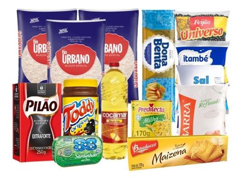 Cesta Básica Completa Alimentos Qualidade Nobre Com Brinde