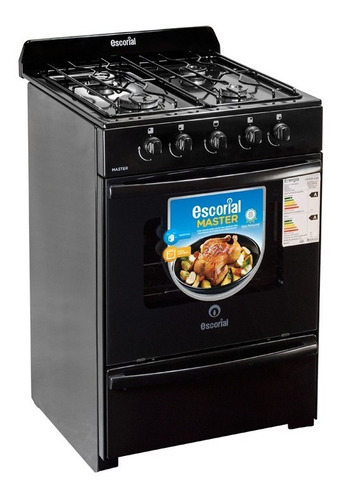 Cocina Escorial Master Black Multigas 56 Cm Lhconfort