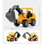 6 X Mini Carrinhos Construção Trator Escavadeira Caminhão Original