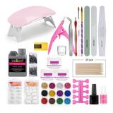 Kit Completo Uña Con Lampara+accesorios Profesional Manicure