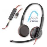 Headset Plantronics Blackwire C3225 Usb 3,5m Mejor Que C3220