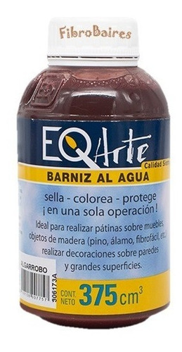 Barniz Eq Arte X 375cc - Colores Madera - Pintura Decorativa