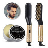 Cepillo Para Barba Calentado Peine Eléctrico Con Crema Para