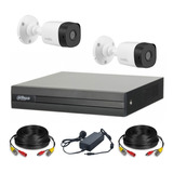 Dahua Kit Seguridad Dvr 4 Ch Hdmi P2p + 2 Camaras Full Hd 1080p 2mp Interior Exterior Ip 67 + Accesorios Cctv