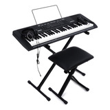 Kit Teclado Musical Alesis Melody 61 Mkii Silla Organeta Mk2