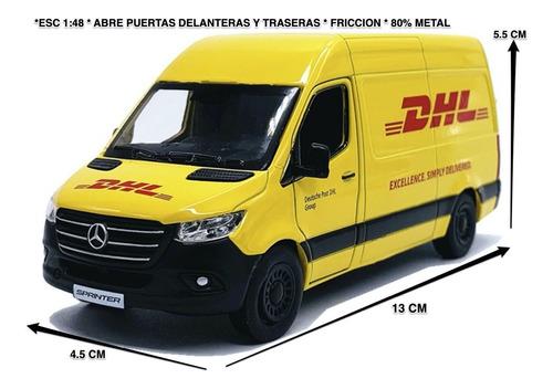 Mercedes-benz Sprinter 2020 Dhl 1:48 Kinsmart 13x5.5x4.5cm