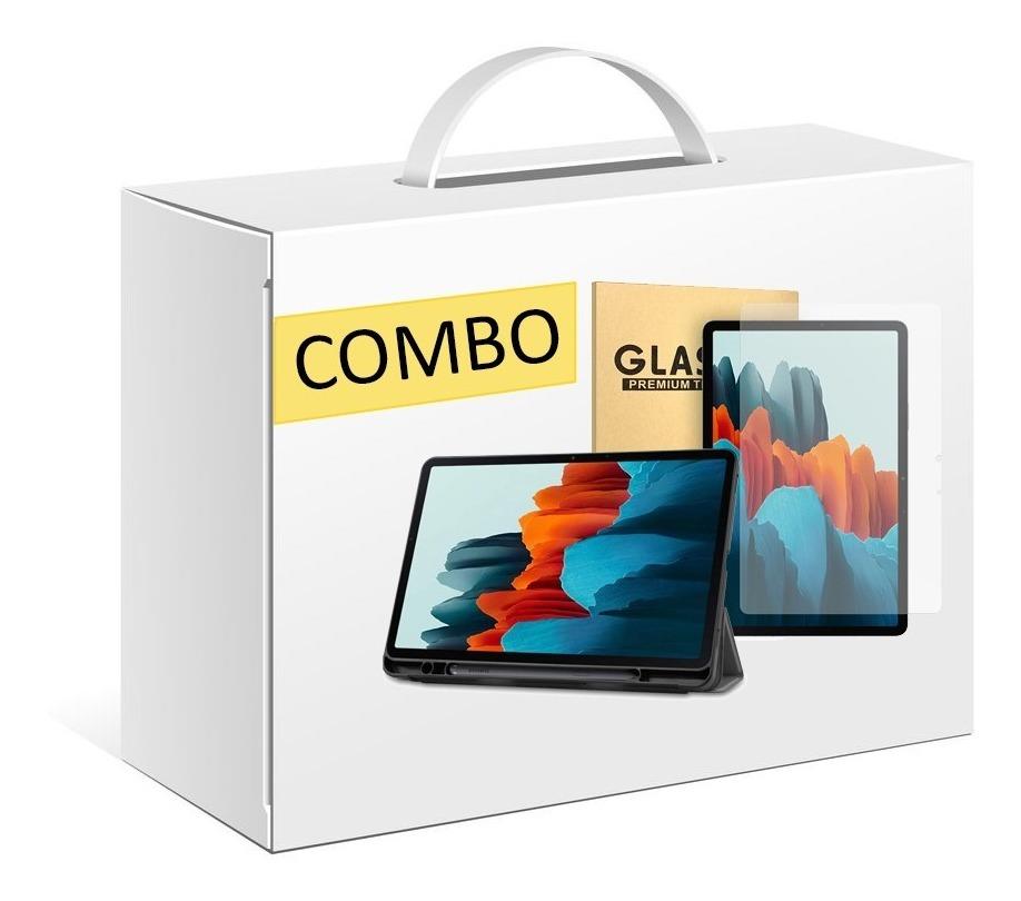 COMBO FUNDA SMART COVER TAB SAMSUNG S7 + VIDRIO TEMPLADO