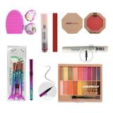 Combo Makeup Dapop + Brochas Maquillaje Ideal Para Regalo