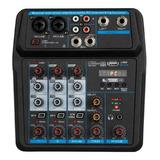 Consola 4 Canales Inteface/usb/bt/phantom/efectos