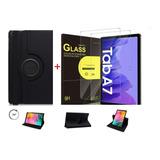 Capa Case Giratória+ Película Vidro Galaxy Tab A7 T500 T505