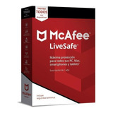 Antivirus Mcafee Livesafe 2021 Unlimited Devices 1 Año Codig