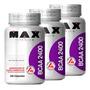 Kit 3x Bcaa 100 Caps 2400mg - Max Titanium (300 Caps) Full Original