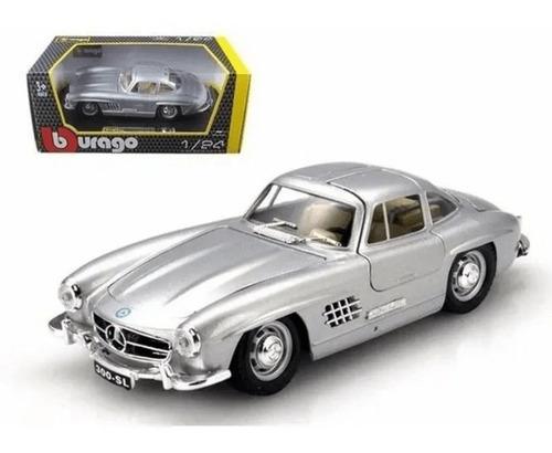 Mercedes-benz 300sl 1954 1:24 Bburago Italian Design Grigio