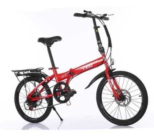 Bicicleta Plegable Rodado 20 Freno De Disco