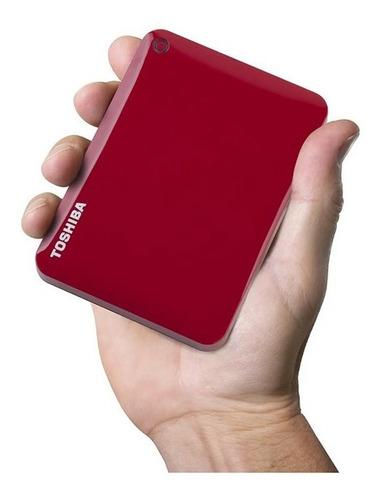 Disco Duro Externo Toshiba 4tb Canvio Advance Rojo