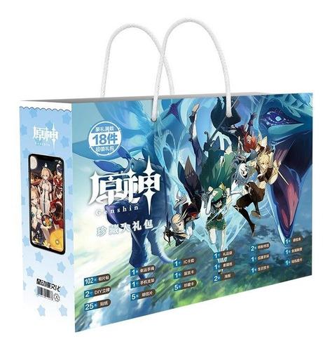 Genshin Impact Lucky Gift Bag Colección Juguetes Con Tarjeta