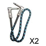 2x Cable De Guitarra Anti-ruido Cable De Pedal De Efectos