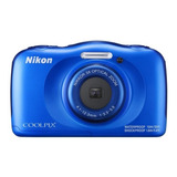Nikon Coolpix W100 Compacta Color Azul