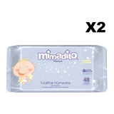 Toallitas Húmedas De Bebé Mimadito Premium 48 Unidades