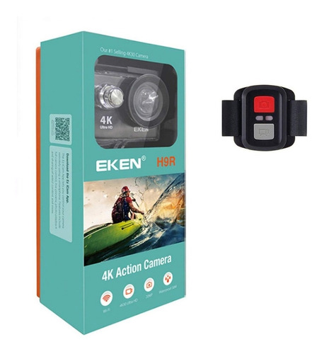 Camara De Accion Wifi 4k 20mp + Control Eken H9r - Negra