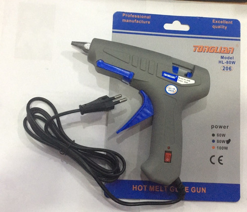 Pistola Encoladora Silicona Eléctrica 80w Barra Grueso
