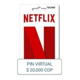 Pin Virtual Netflix $20.000 Recarga Original