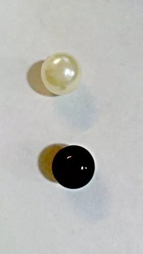 200 Perlas 14mm Grandes Color Natural Y O Negras Bolitas